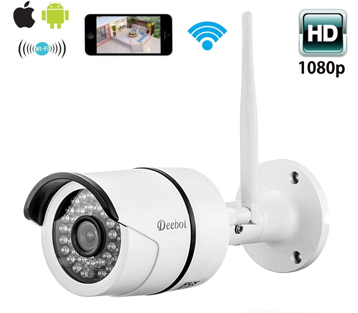 new review coolcam hd 720p outdoor ir bullet wireless wifi security camera night vision reviews. Black Bedroom Furniture Sets. Home Design Ideas