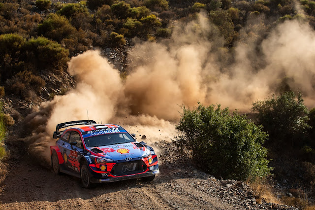 Sebastien Loeb In Hyundai WRC Car