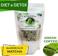 Alamon SLIM - Green Coffee 250g - 21x minum - Pelangsing Alami