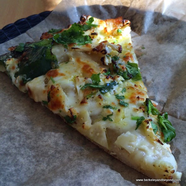 roasted cauliflower pizza at Arizmendi Bakery and Pizzeria in Emeryville, California