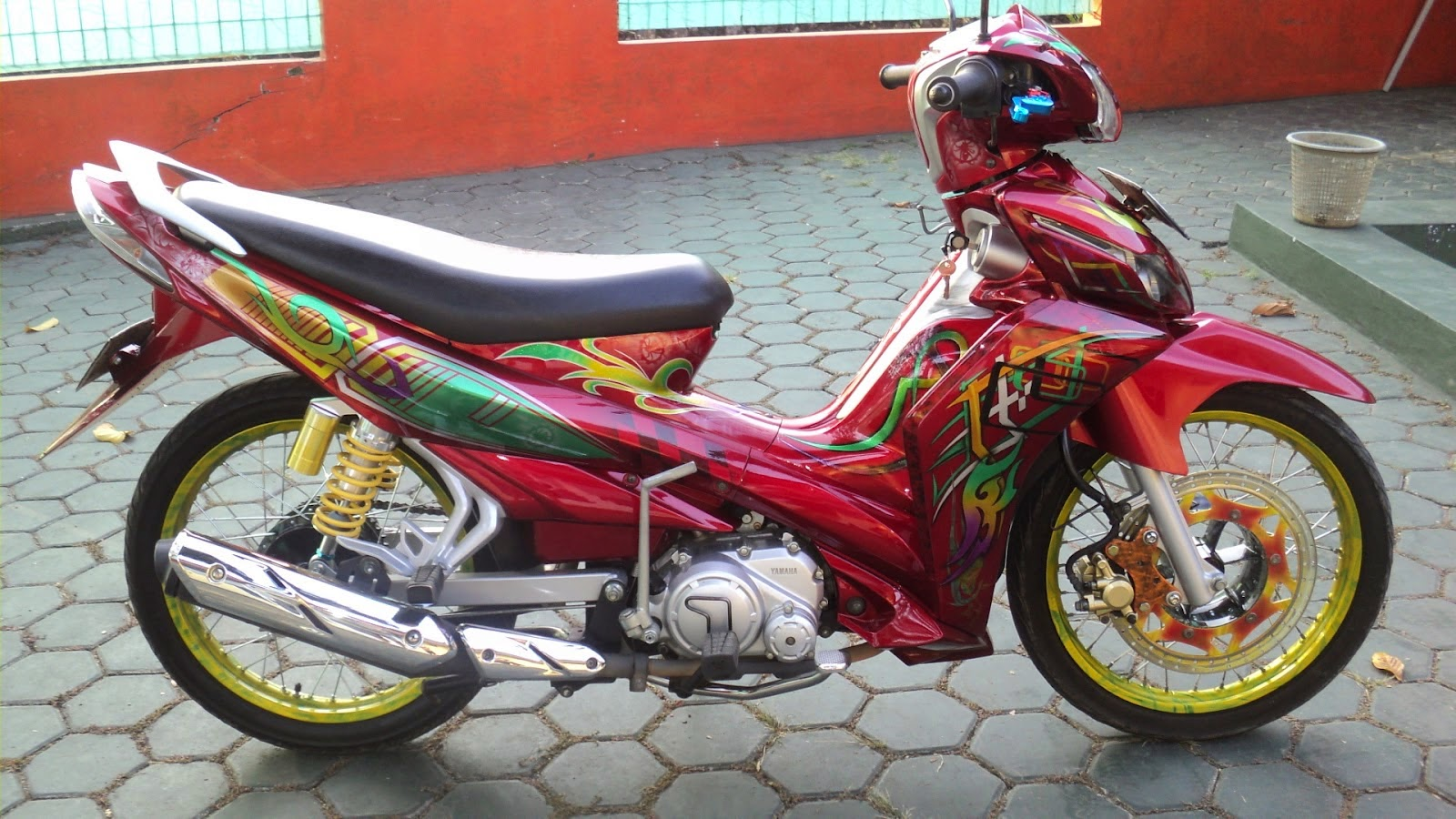 Modifikasi Semi Motor Jupiter Z Cw Custom Sticker
