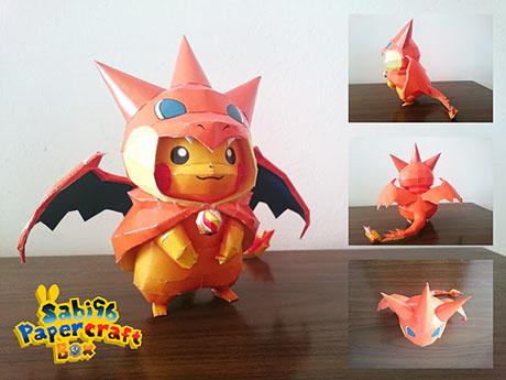 How to Make an Origami Pokemon Charizard   345x460
