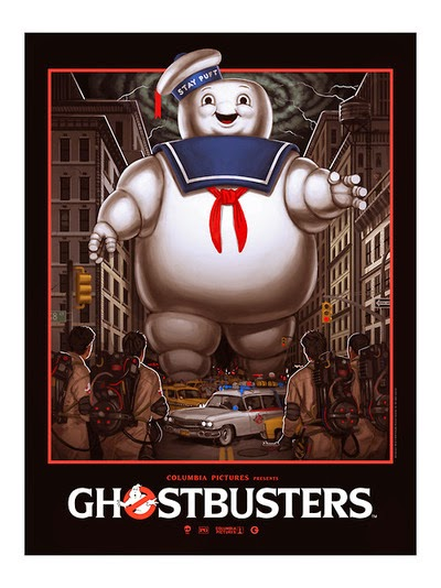 Gallery1988's Ghostbusters 30th Anniversary Commemorative Show Poster by Mike Mitchell