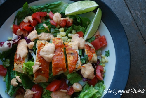 Chipotle Mango BBQ Chicken Salad (The Gingered Whisk)