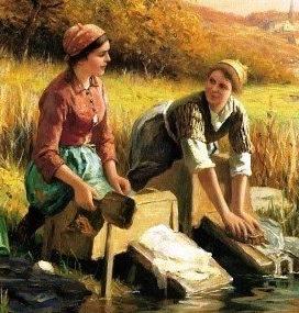 lavage à la main vêtements baignoire installation