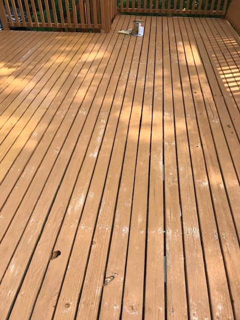 Deck Staining (Before)