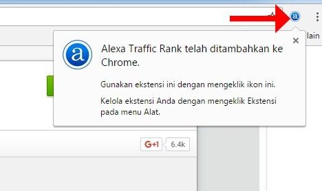 Alexa Traffic Rank Telah Ditambahkan ke Chrome
