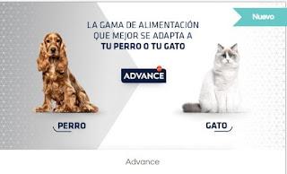 Prueba comida para perros y gatos Advance Sensitive