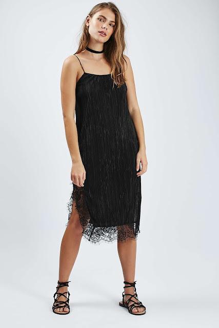 black strappy midi dress