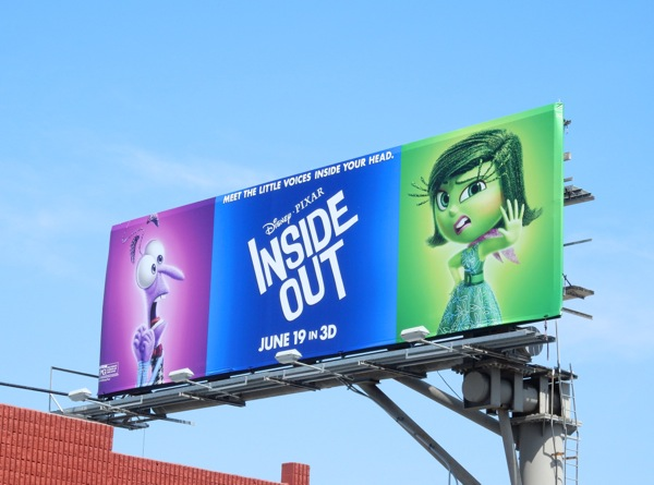 Inside Out Fear and Disgust movie billboard
