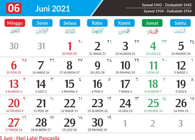 Download Kalender 2021 Gratis dan Lengkap