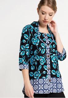 Contoh Baju Batik Lengan Panjang Wanita Muda