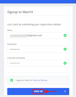 enter your details email password