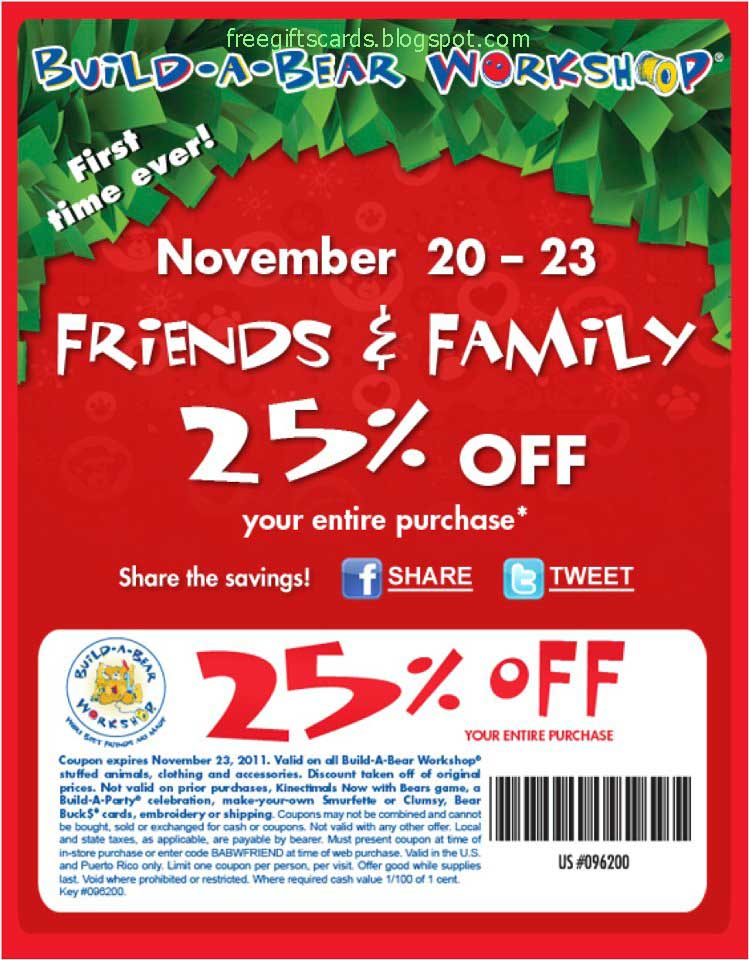 This is a photo of Current Build a Bear Coupon Printable