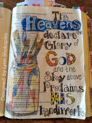 Bible Journal Page from Psalms 19 by Lynn Shokoples
