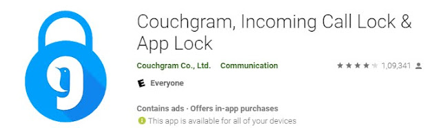 Couchgram, Incoming Call Lock and App lock
