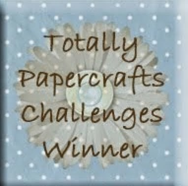 I won Totally Papercrafts challenge