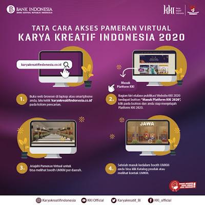 Tata Cara Akses Pameran Virtual Karya Kreatif Indonesia 2020