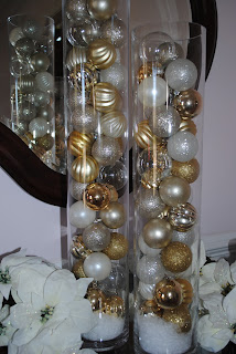 Christmas Holiday Ideas Ornament Filled Glass Vase