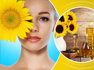 minyak bunga matahari untuk kelembaban kulit
