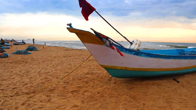 Colorful Boats at Marina Beach