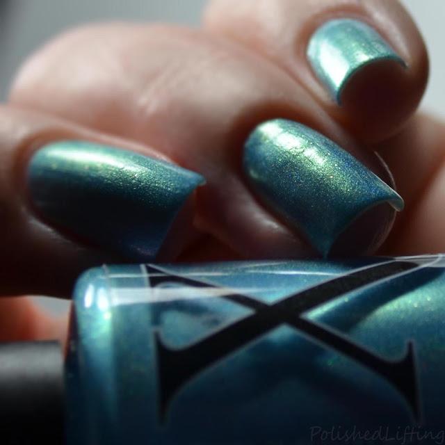 blue holo nail polish