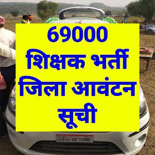 69000 shikshak bharti jila avantan suchi