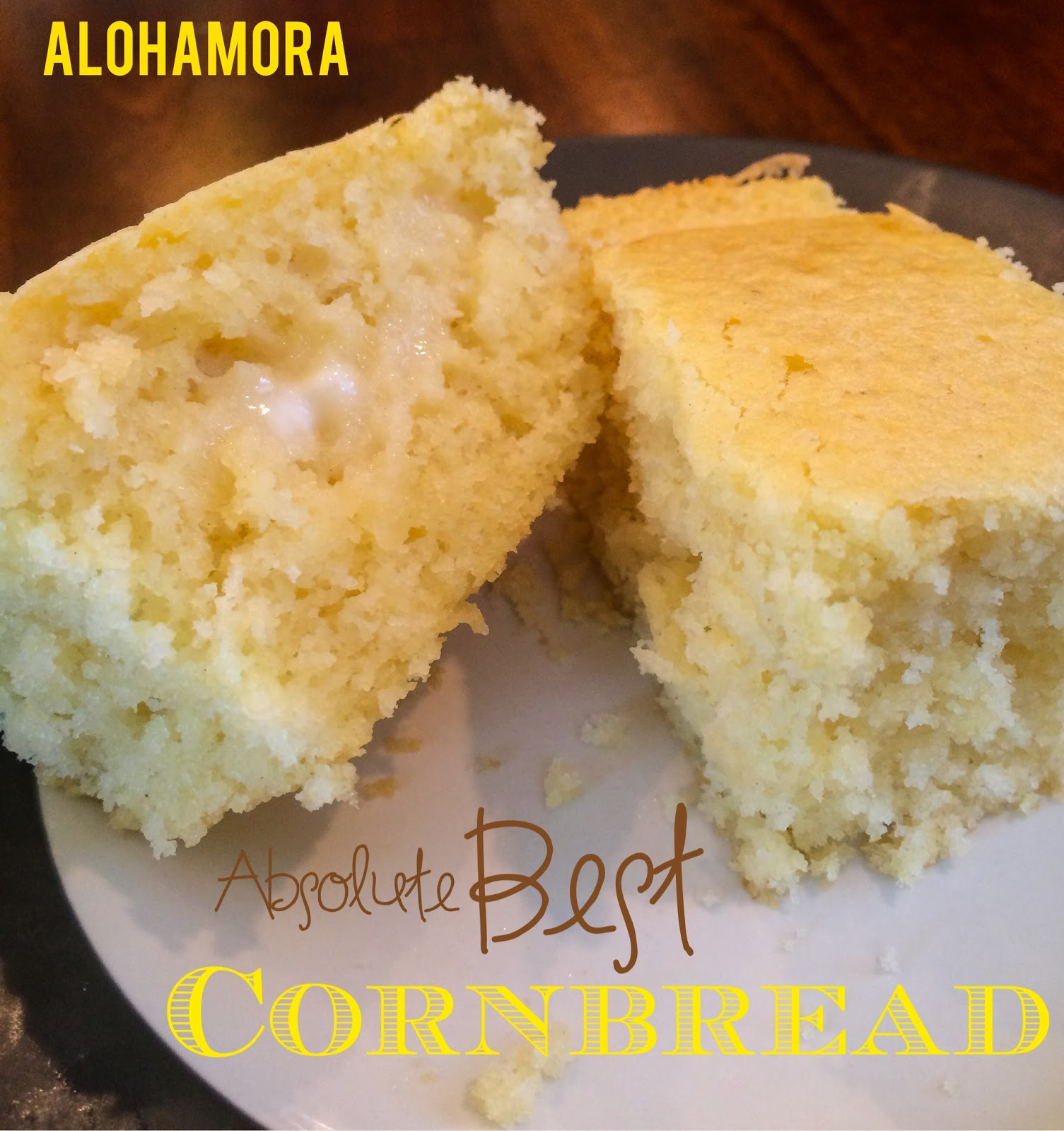 The Absolute Best Cornbread.  Amazing flavor.  Easy to make in one bowl, and absolutely delicious with chili.   Easiest bread to make. Alohamora Open a Book http://www.alohamoraopenabook.blogspot.com/
