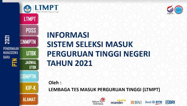 Informasi Sistem Seleksi Masuk PTN Tahun 2021 PDF