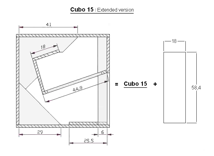 Cubo 15 extended plan