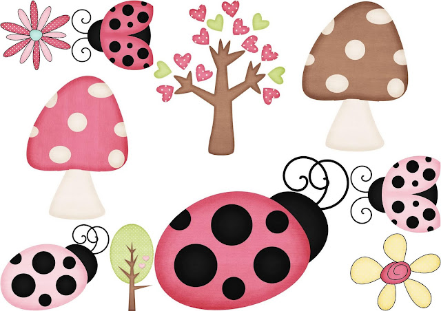 Flora and Fauna from Tea and Cupcakes Clipart.
