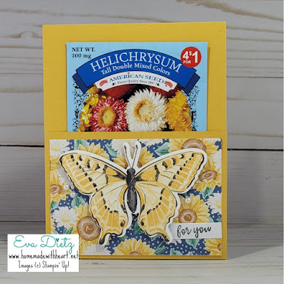 Butterfly Gift Card and Seed Packet Card in bumblebee cardstock