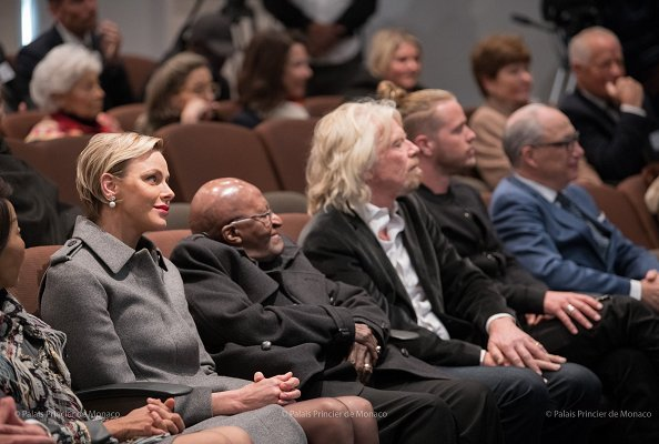 Princess Charlene of Monaco, Richard Branson and Desmond Tutu visited the Headquarters of Nelson Mandela Foundation in Johannesburg