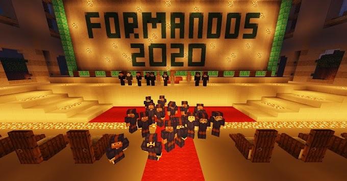 Uma festa de formatura em Minecraft!