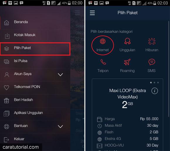 Bagaimana cara membeli atau berlangganan paket data internet telkomsel yang gampang Cara Beli Paket Internet Menggunakan Aplikasi MyTelkomsel