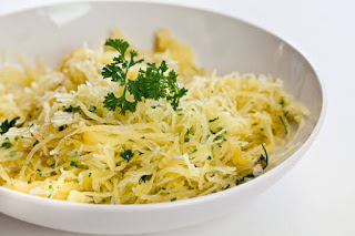 Resep Masakan Enak Baked Spaghetti Squash dengan bawang putih dan mentega