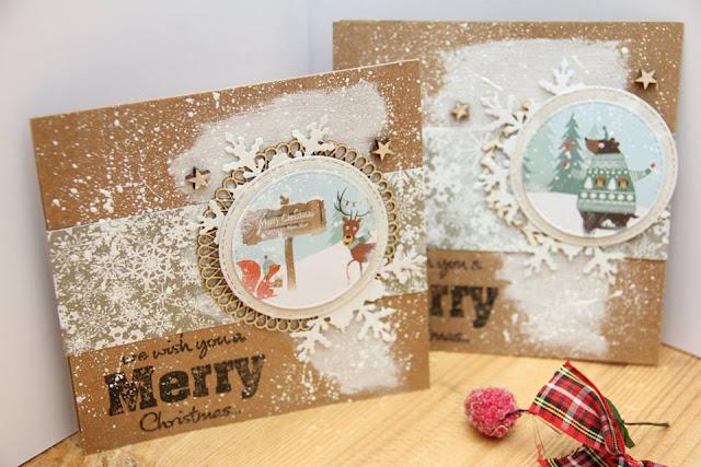 świąteczne kartki bliźniaki