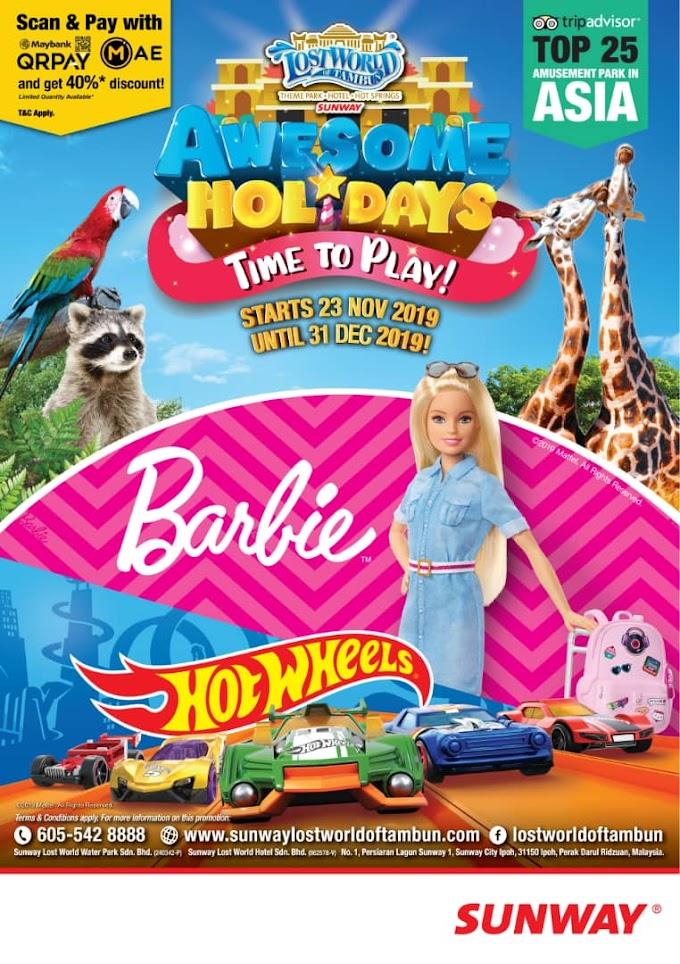 Nikmati Keseronokan Bercuti Di Lost World of Tambun 2019: Bertemakan Barbie dan Hot Wheels