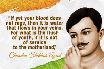 Inspirational quotes by Chandra Shekhar Azad