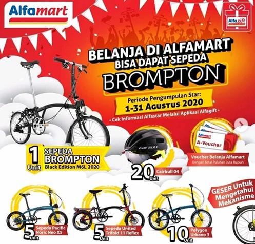 Promo Belanja Di Alfamart 2020 Berhadiah Sepeda Brompton Dan Voucher Belanja Gratis Blog Bursa Kuis
