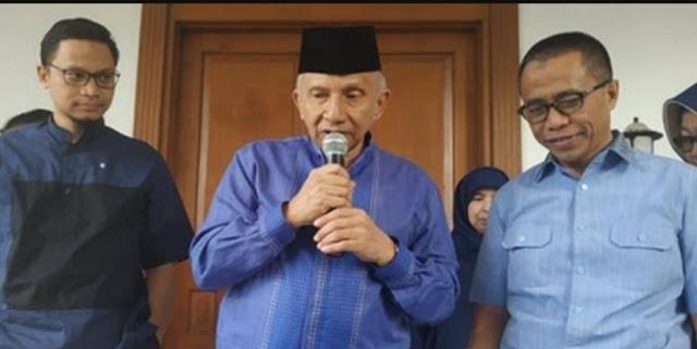 Amien Rais: Beri Kesempatan ke Jokowi-Ma'ruf, 5 Tahun Kita Awasi
