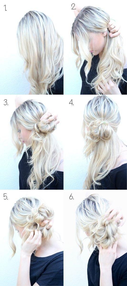 6 Recogidos Faciles Paso A Paso Peinados Faciles - Recogidos-sencillos-paso-a-paso