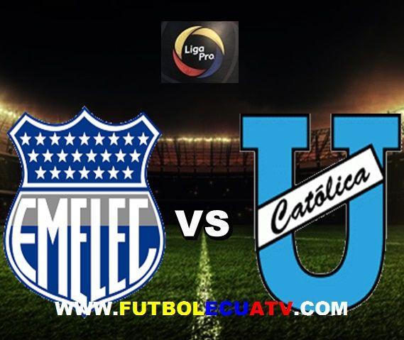 Emelec recibe a Universidad Católica en vivo desde las 16h00 horario local a disputarse en el estadio George Capwell de Guayaquil, continuando  por la fecha 17 de la Liga Pro Ecuador, siendo el juez principal Daniel Salazar con emisión de los canales oficiales GolTV, CNT Sports y DirecTV.