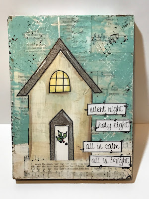mixed media church, silent night sign