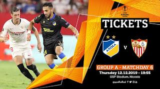 Εισιτήρια: APOEL FC - Sevilla FC, UEL #6