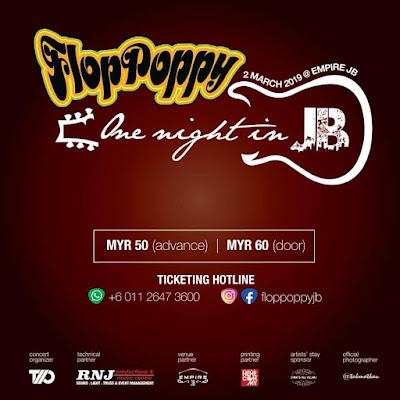 Jualan Tiket 'Flop Poppy One Night in JB 2019' Telah Pun Bermula