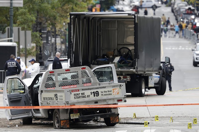 Officer who halted truck rampage hailed