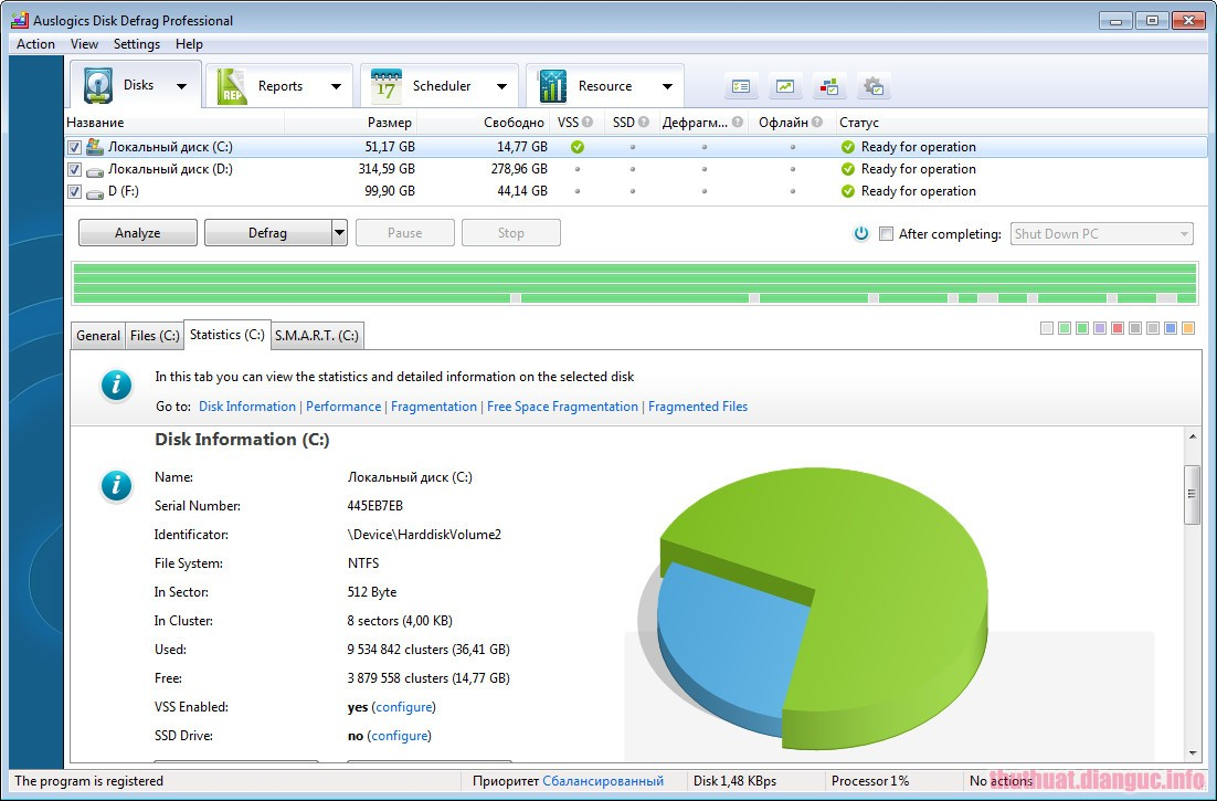 Download Auslogics Disk Defrag Professional 9.0.0.0 Full Crack