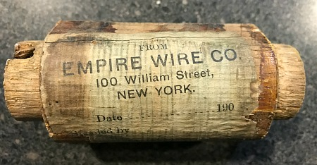 antique label from an old wire spool