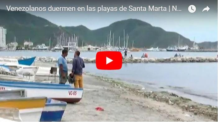 2000 refugiados venezolanos duermen en una playa de Colombia